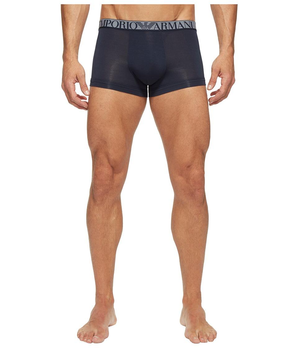 Emporio Armani - Premium Stretch Modal Trunk (Marine) Men's Underwear