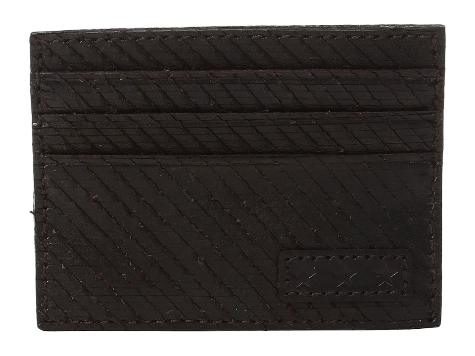 John Varvatos - Credit Card Case (Chocolate) Credit card Wallet