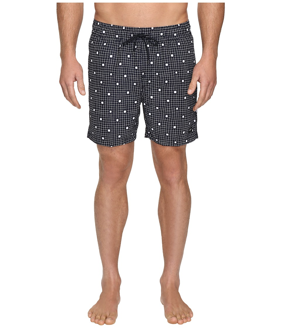 Jack Spade - Large Graph Squares Swimwear (Navy/White) Men's Swimwear