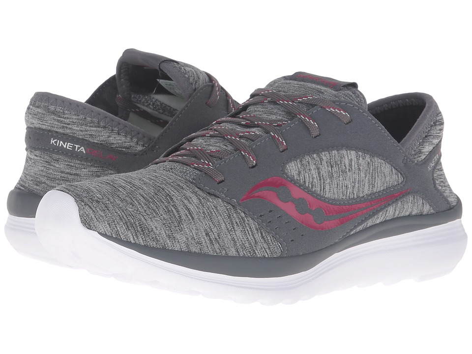Saucony - Kineta Relay (Grey/Heather/Berry) Women's Running Shoes