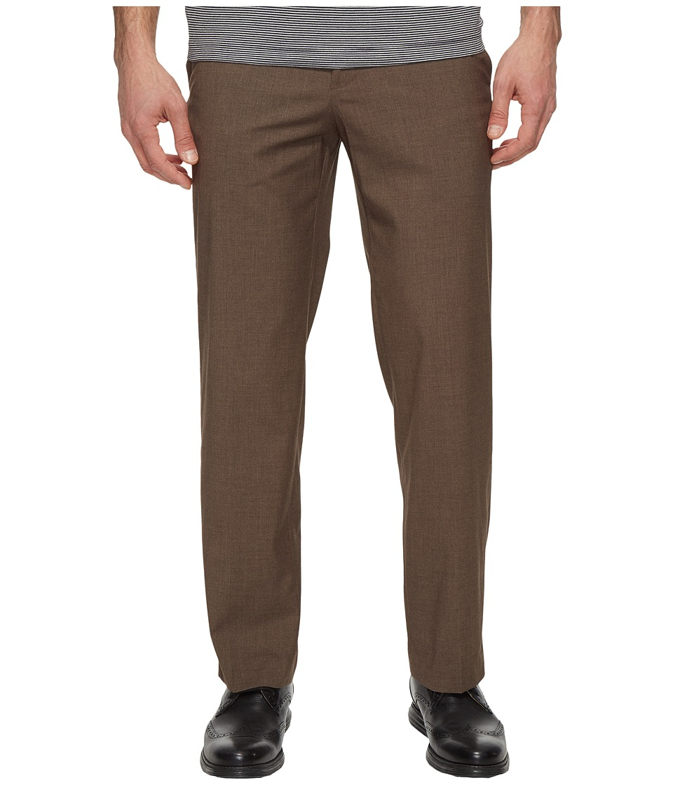 Dockers - Solid with Dual Action Straight Fit Pants (Brown) Men's Casual Pants