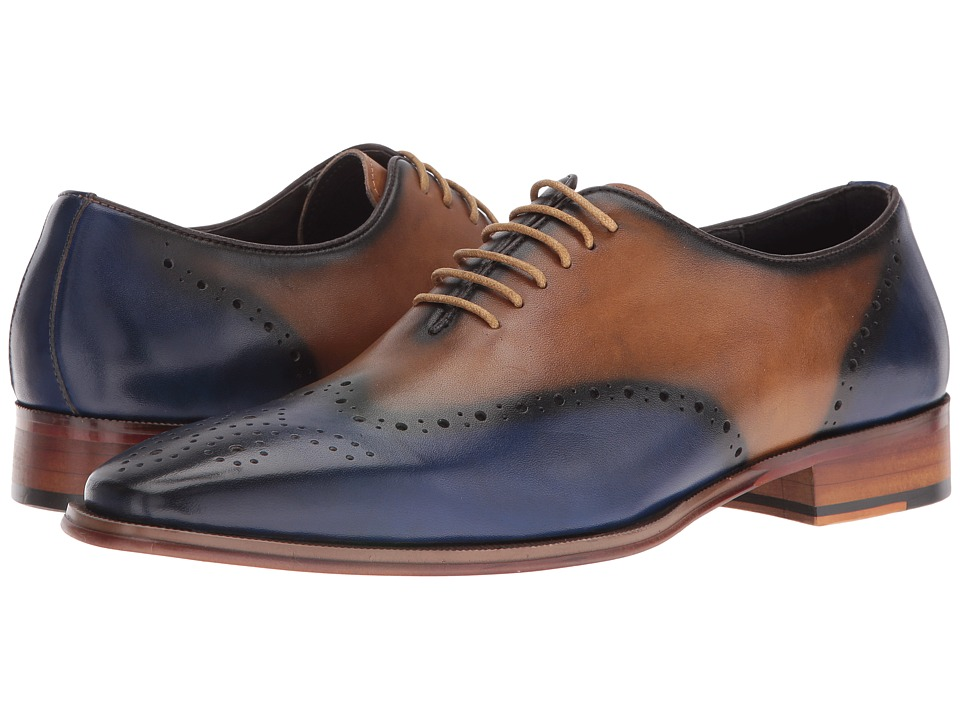 Carrucci - Frank (Blue/Tan) Men's Shoes