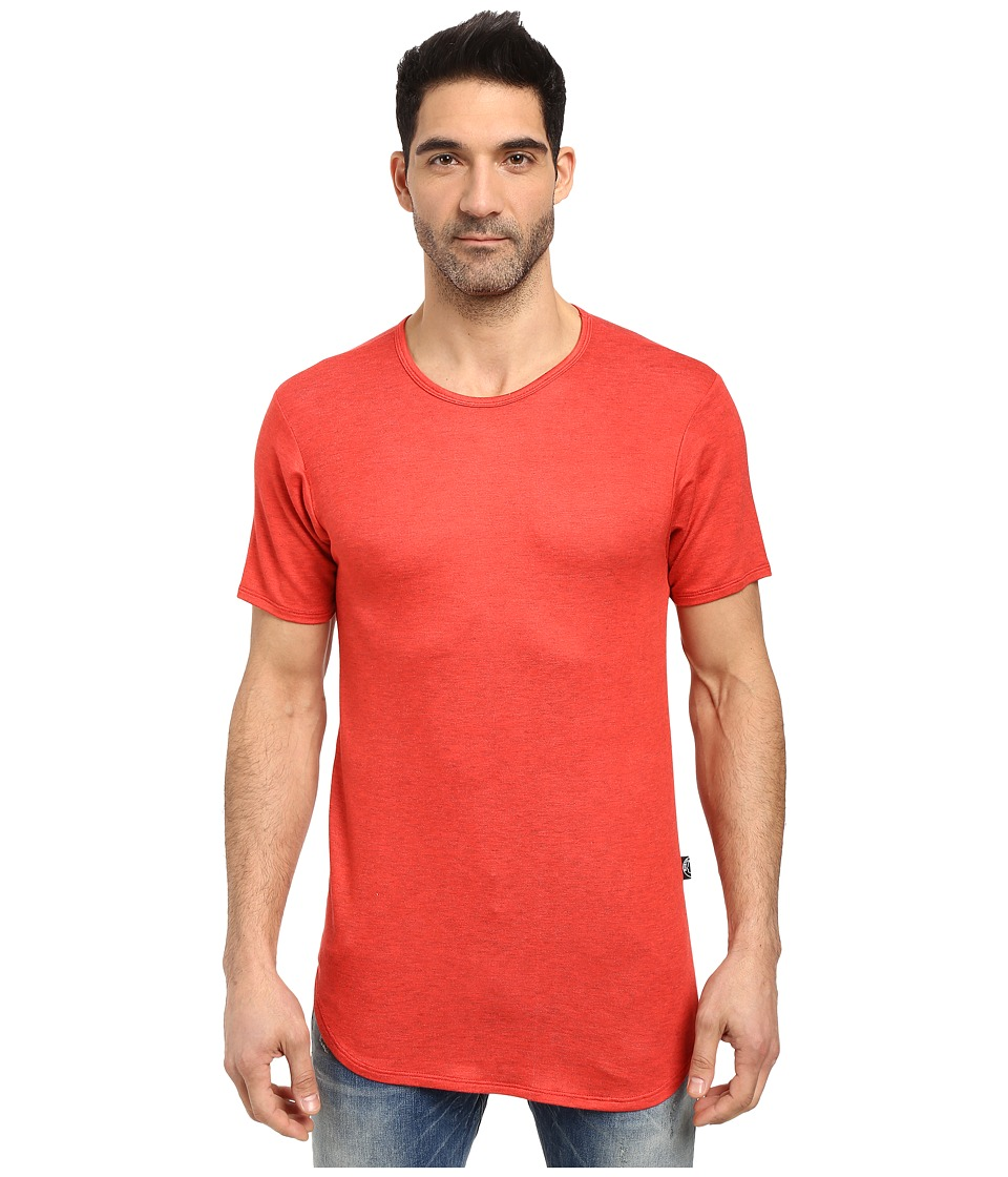 Rustic Dime Heather French Terry Long Tee (Red) Men's T Shirt