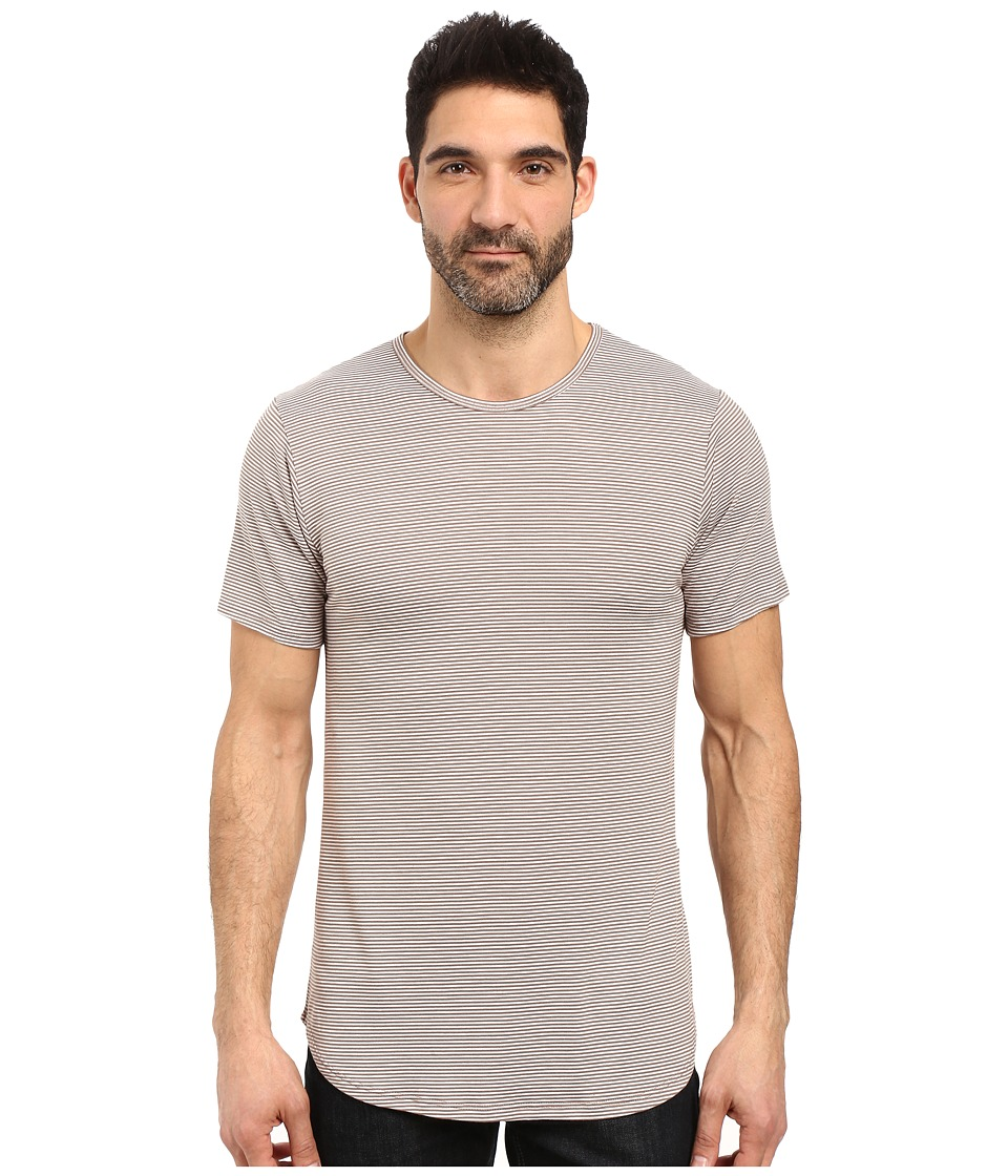 Rustic Dime - Skinny Striped Long Tee (Grey) Men's T Shirt