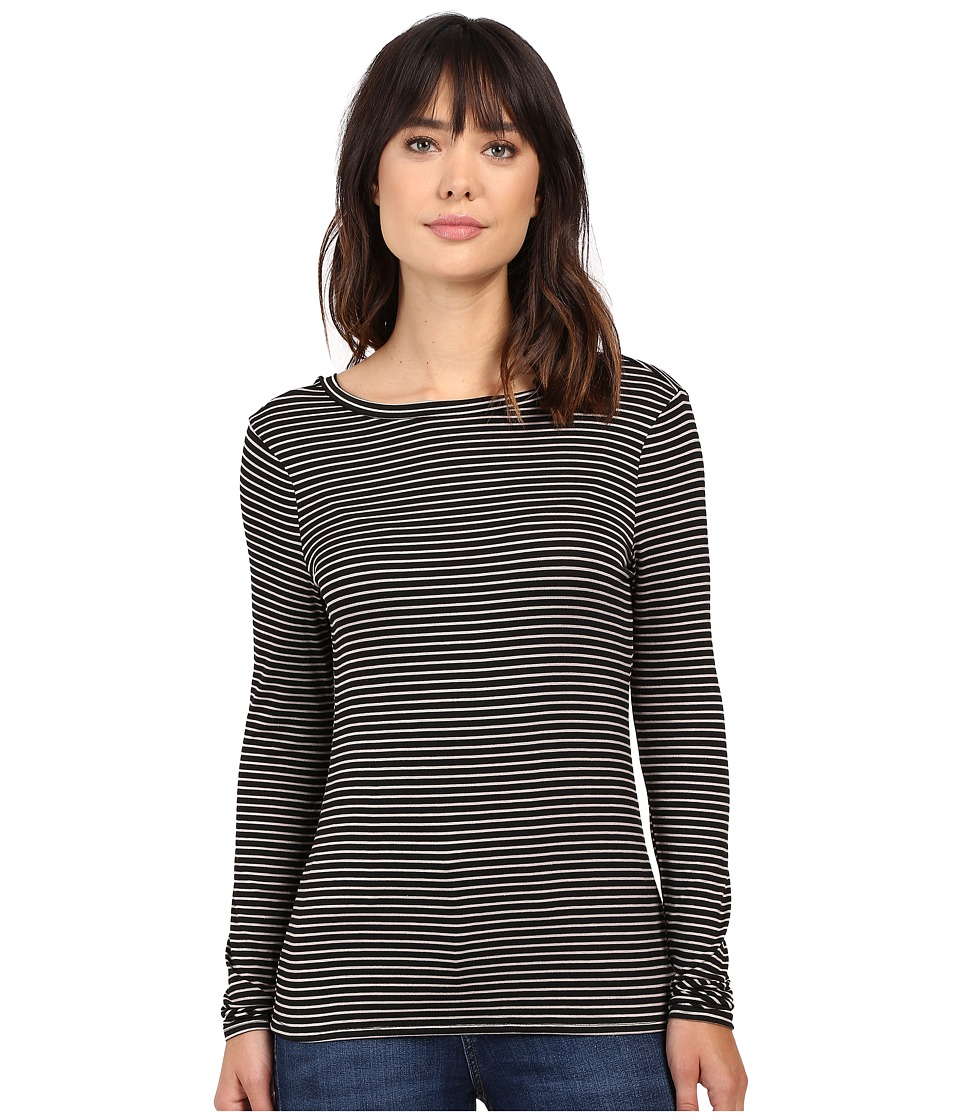 Project Social T - Nightcap Low Back Long Sleeve (Black/Lino) Women's Long Sleeve Pullover