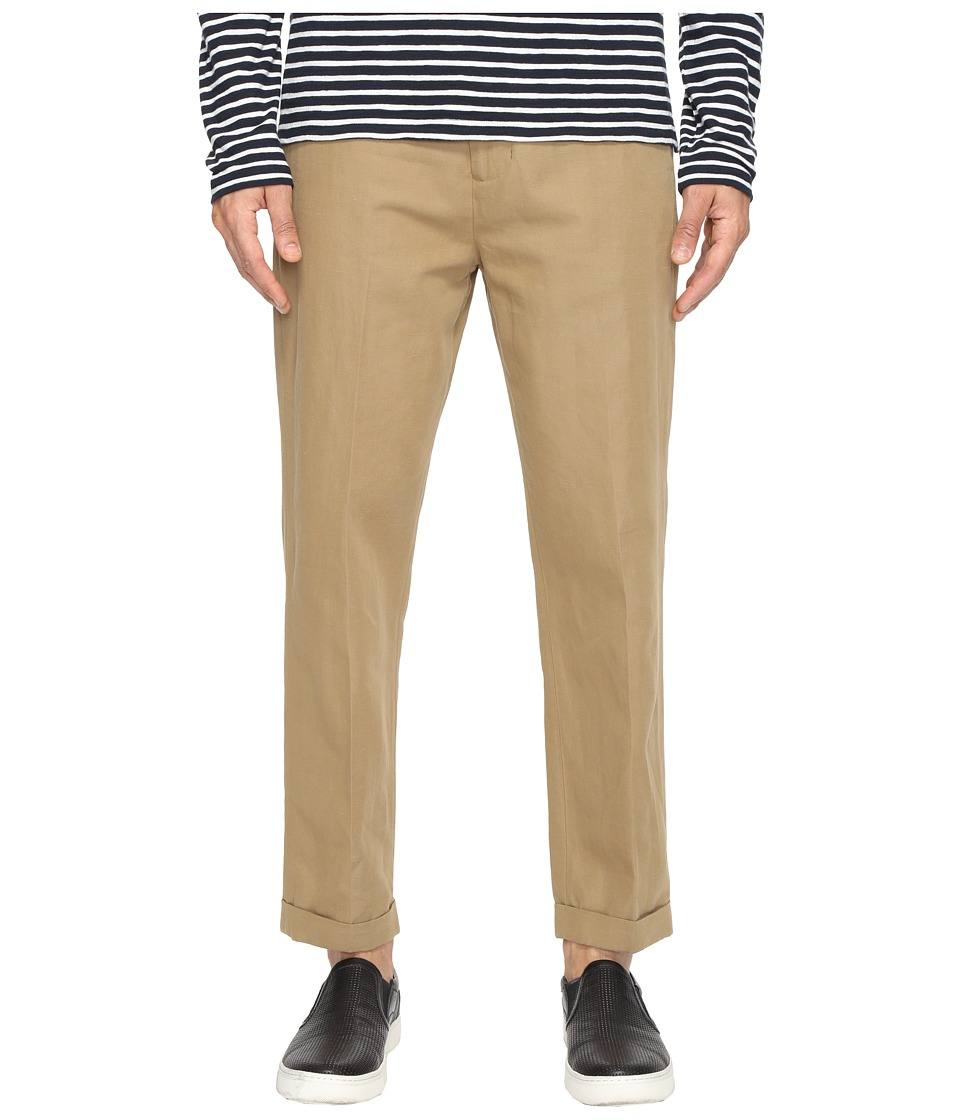 Vince - Relaxed Cropped Trousers (Dark Canvas) Men's Casual Pants