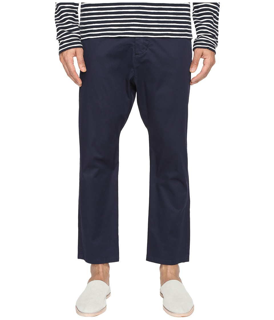 Vince - Drop-Rise Cropped Drawstring Pants (Coastal Blue) Men's Casual Pants