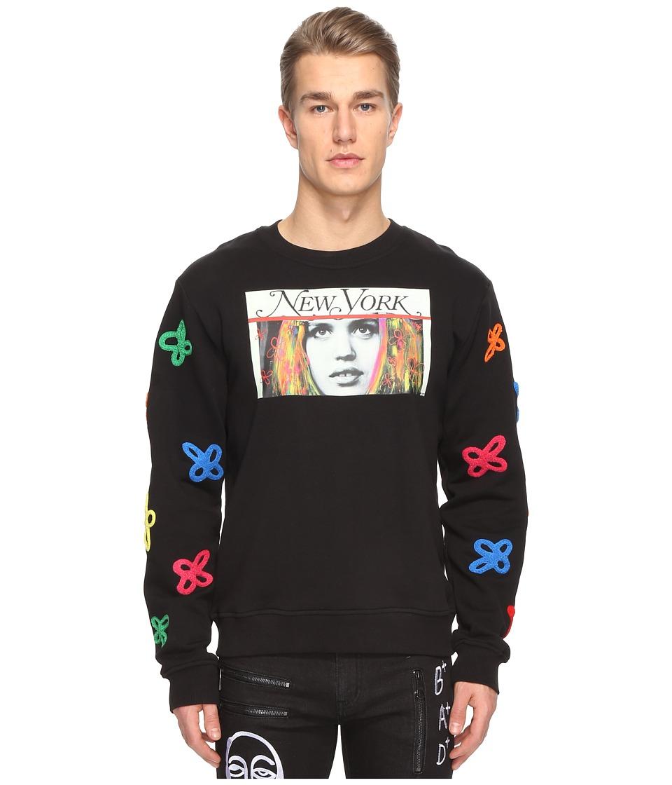 Haculla - Tecknikolor Crew Neck (Black) Sweatshirt