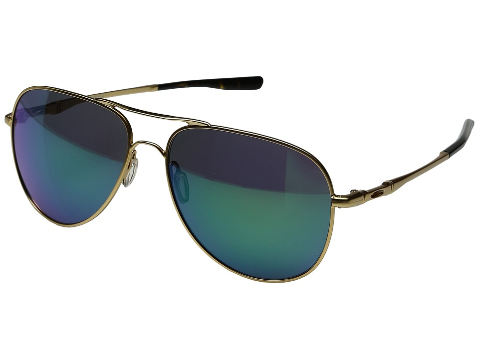 Oakley - Elmont L (Satin Gold/Jade Iridium) Fashion Sunglasses