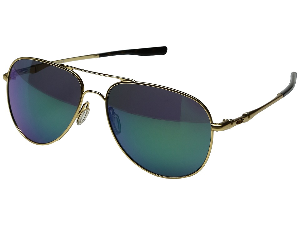 Oakley - Elmont M (Satin Gold/Jade Iridium) Fashion Sunglasses