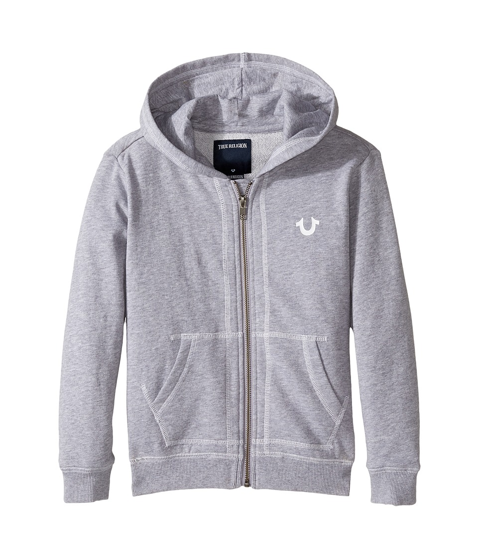 True Religion Kids - French Terry Hoodie (Toddler/Little Kids) (Heather Grey) Boy's Sweatshirt