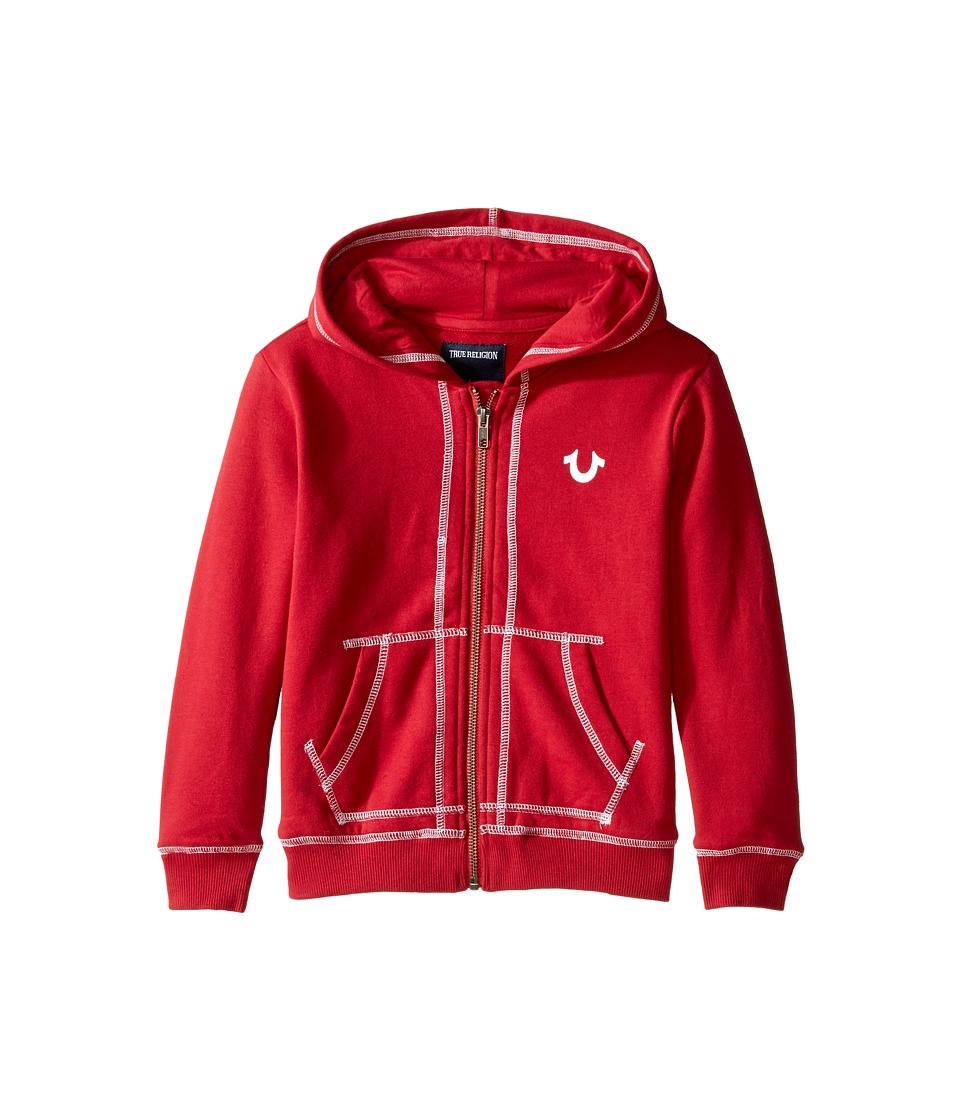 True Religion Kids - French Terry Hoodie (Toddler/Little Kids) (True Red) Boy's Sweatshirt