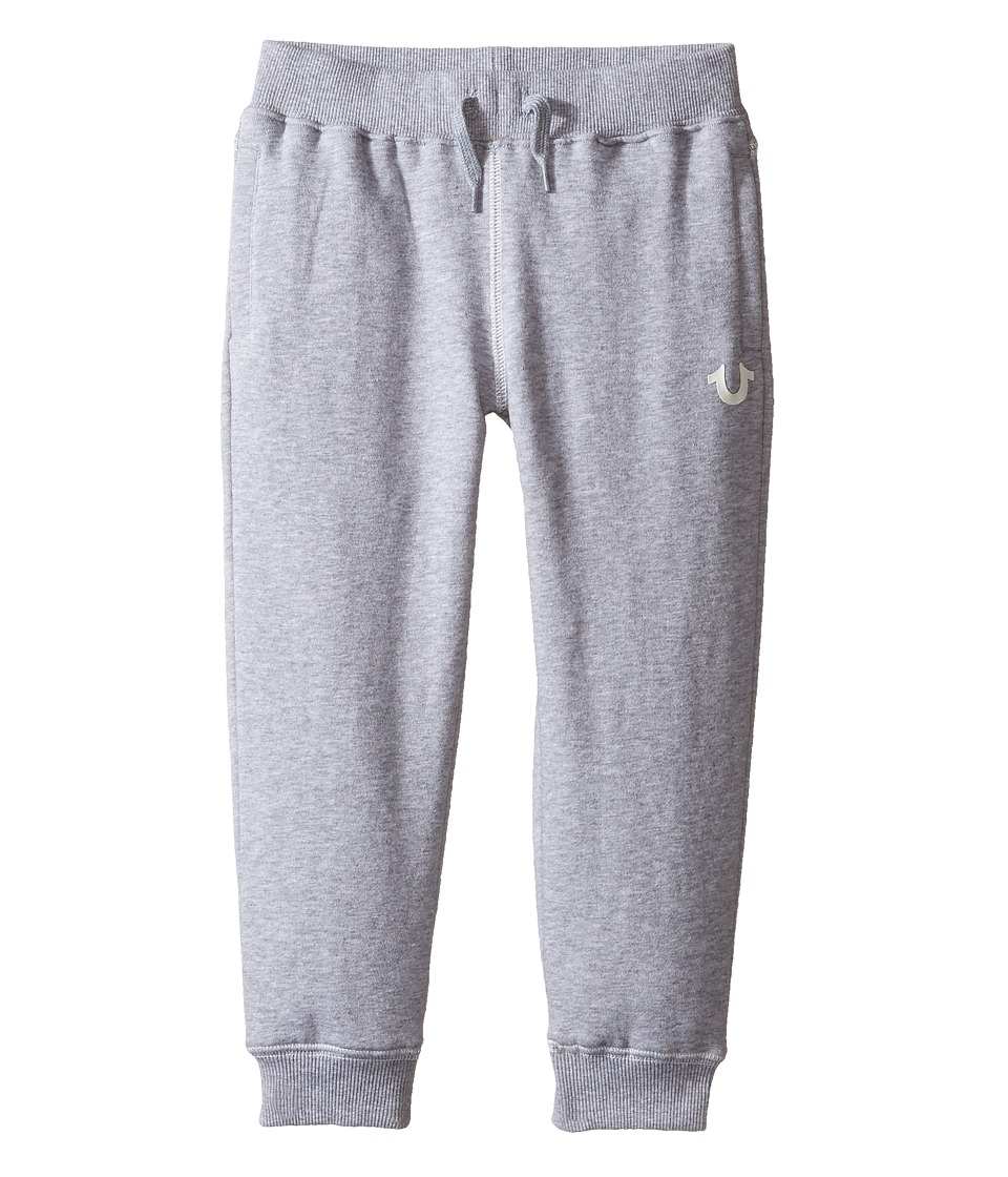 True Religion Kids - French Terry Sweatpants (Toddler/Little Kids) (Heather Grey) Boy's Casual Pants