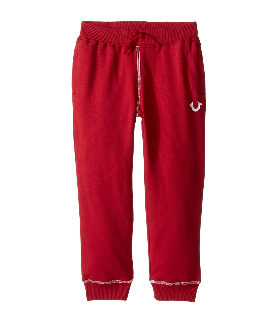 True Religion Kids - French Terry Sweatpants (Toddler/Little Kids) (True Red) Boy's Casual Pants
