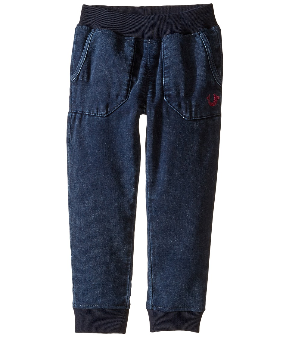 True Religion Kids - Indigo Mineral Wash Sweatpants (Toddler/Little Kids) (Indigo Mineral Wash) Girl's Casual Pants