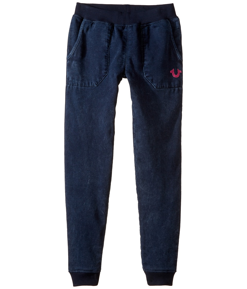 True Religion Kids - Indigo Mineral Wash Sweatpants (Little Kids/Big Kids) (Indigo Mineral Wash) Girl's Casual Pants