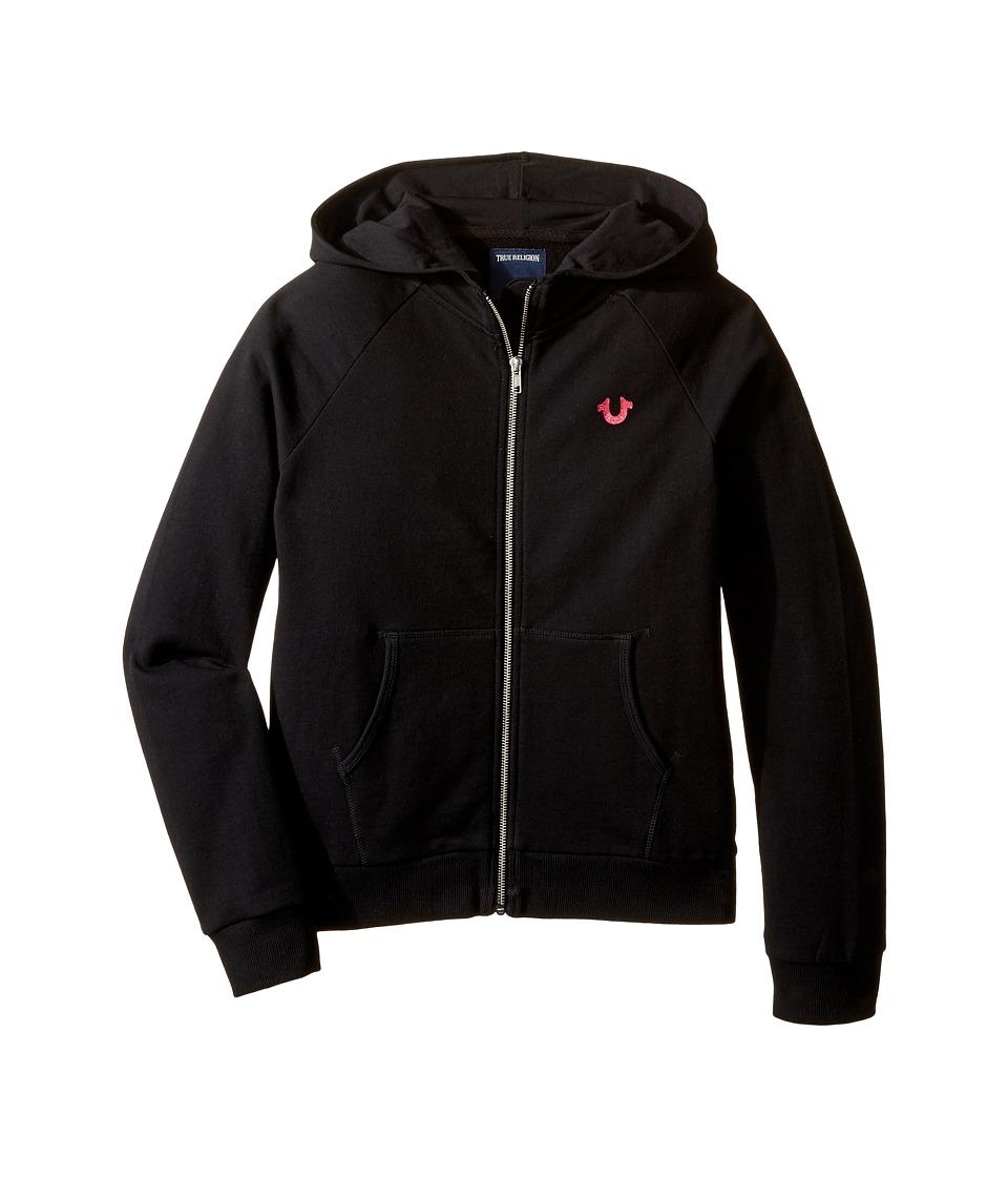 True Religion Kids - Branded Fleece Hoodie (Little Kids/Big Kids) (Black) Girl's Sweatshirt