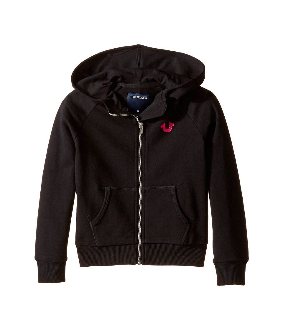 True Religion Kids - Branded Fleece Hoodie (Toddler/Little Kids) (Black) Girl's Sweatshirt