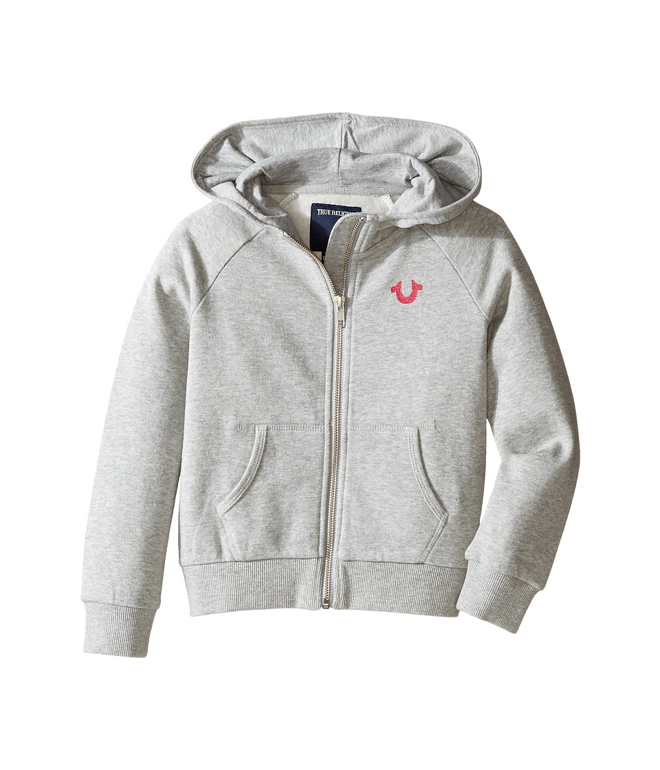 True Religion Kids - Branded Fleece Hoodie (Toddler/Little Kids) (Heather Grey) Girl's Sweatshirt