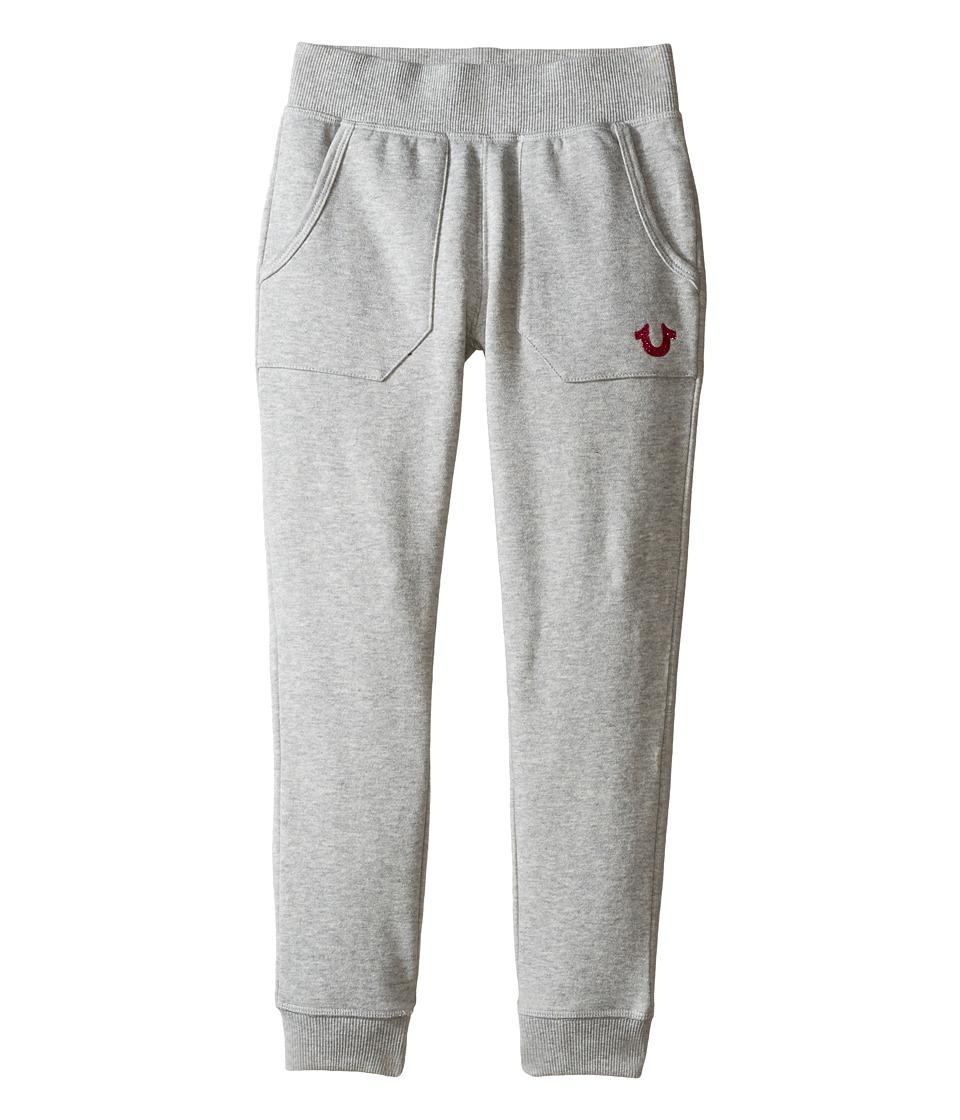 True Religion Kids - Branded Fleece Sweatpants (Toddler/Little Kids) (Heather Grey) Girl's Casual Pants