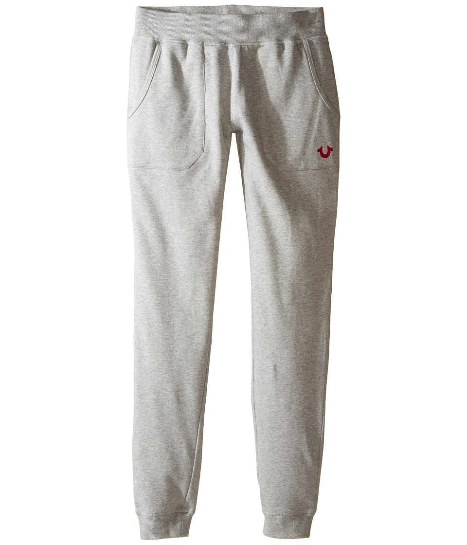 True Religion Kids - Branded Fleece Sweatpants (Little Kids/Big Kids) (Heather Grey) Girl's Casual Pants