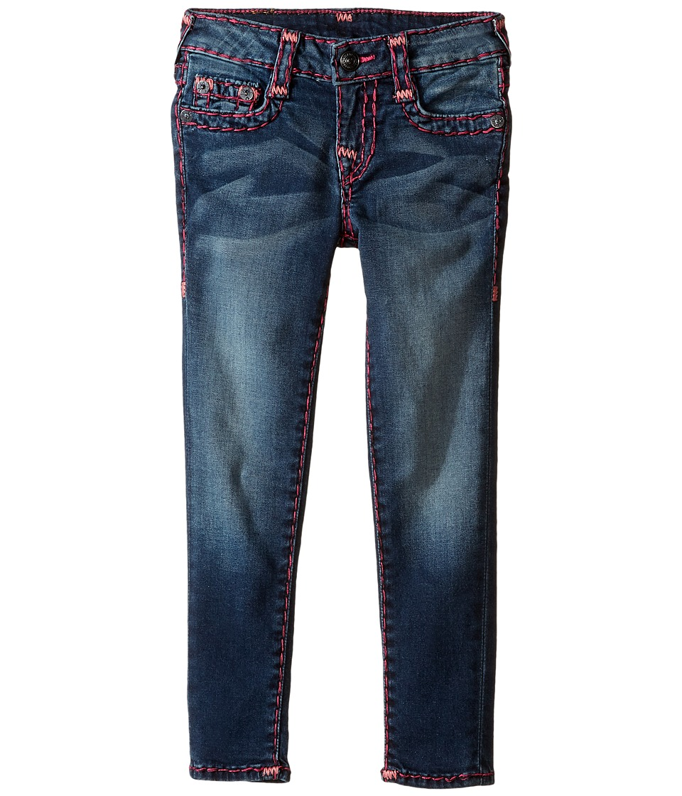 True Religion Kids Casey Black and Fever Combo Super T Jeans (Toddler/Little Kids) (Alameda Wash) Girl