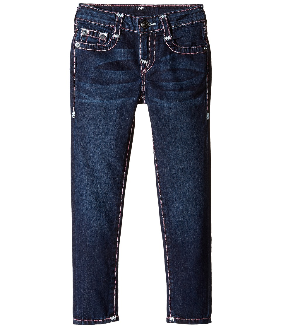 True Religion Kids - Casey White and Pink Combo Super T Jeans in Tear Drop Blue (Toddler/Little Kids) (Tear Drop Blue) Girl's Jeans