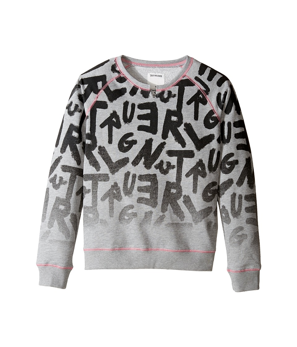True Religion Kids - Graffiti Pullover (Little Kids/Big Kids) (Heather Grey) Girl's Clothing