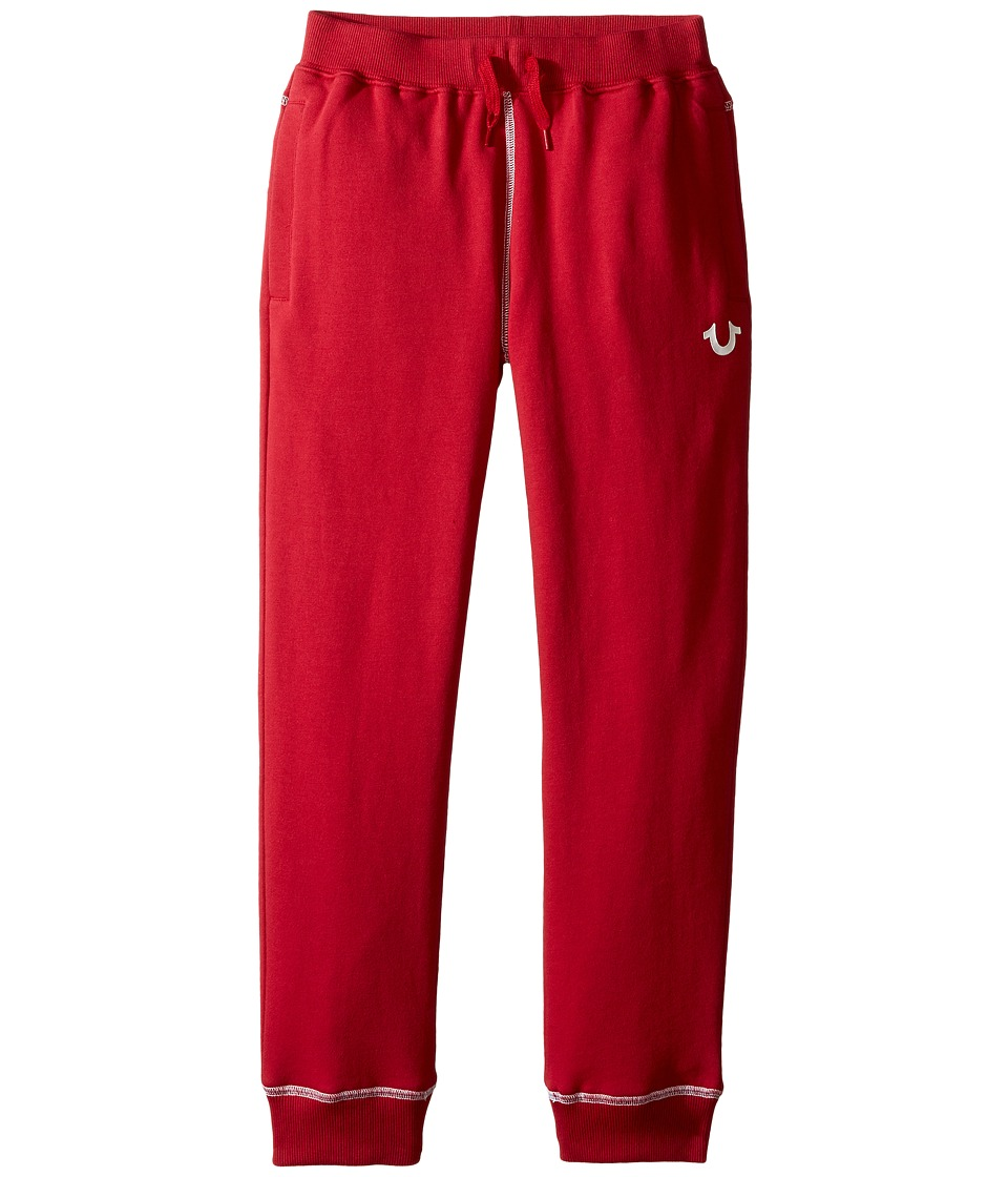 True Religion Kids - French Terry Sweatpants (Big Kids) (True Red) Boy's Casual Pants