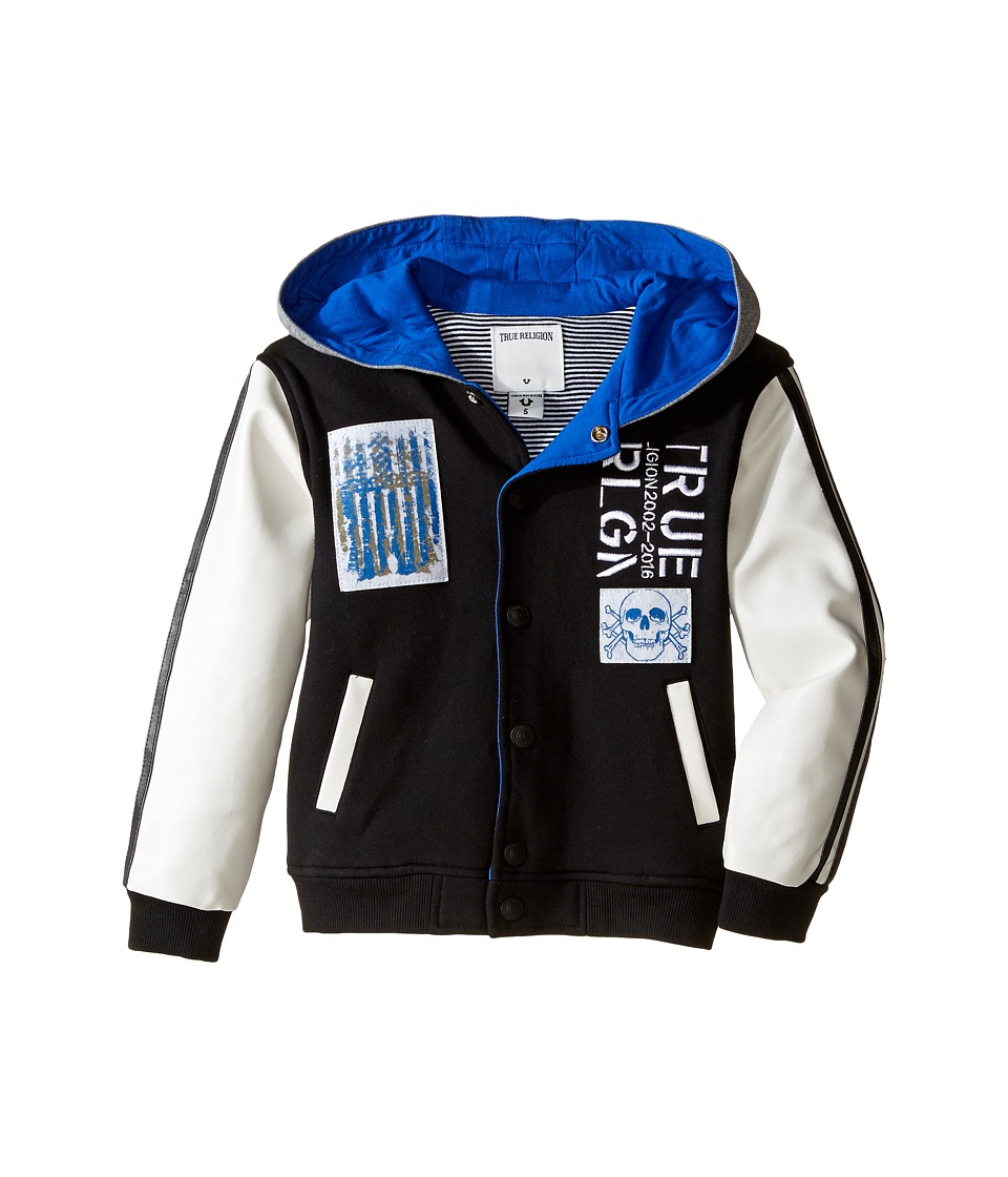 True Religion Kids - Punk Varsity Jacket (Toddler/Little Kids) (Black) Boy's Coat