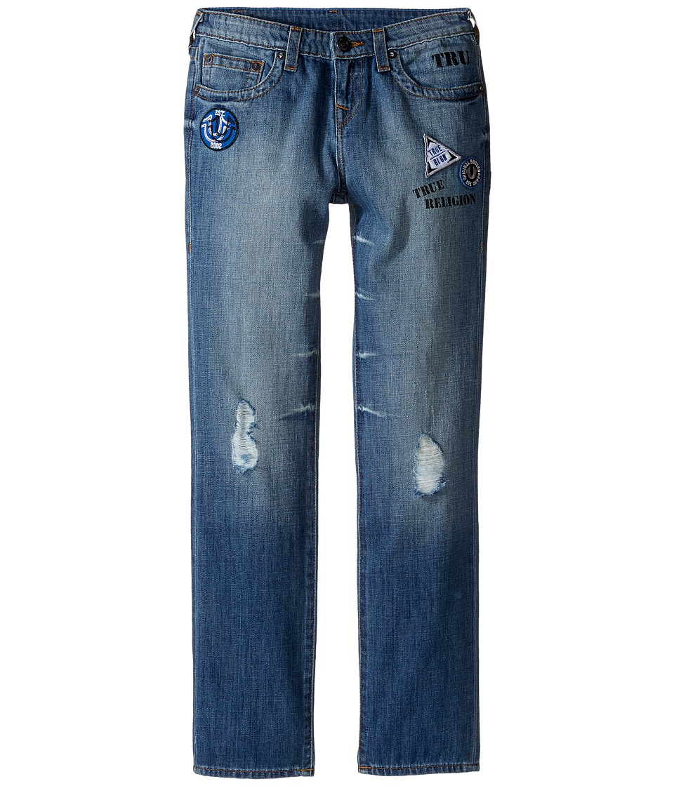 True Religion Kids - Geno Patchwork Jeans in Soft Blue (Big Kids) (Soft Blue) Boy's Jeans