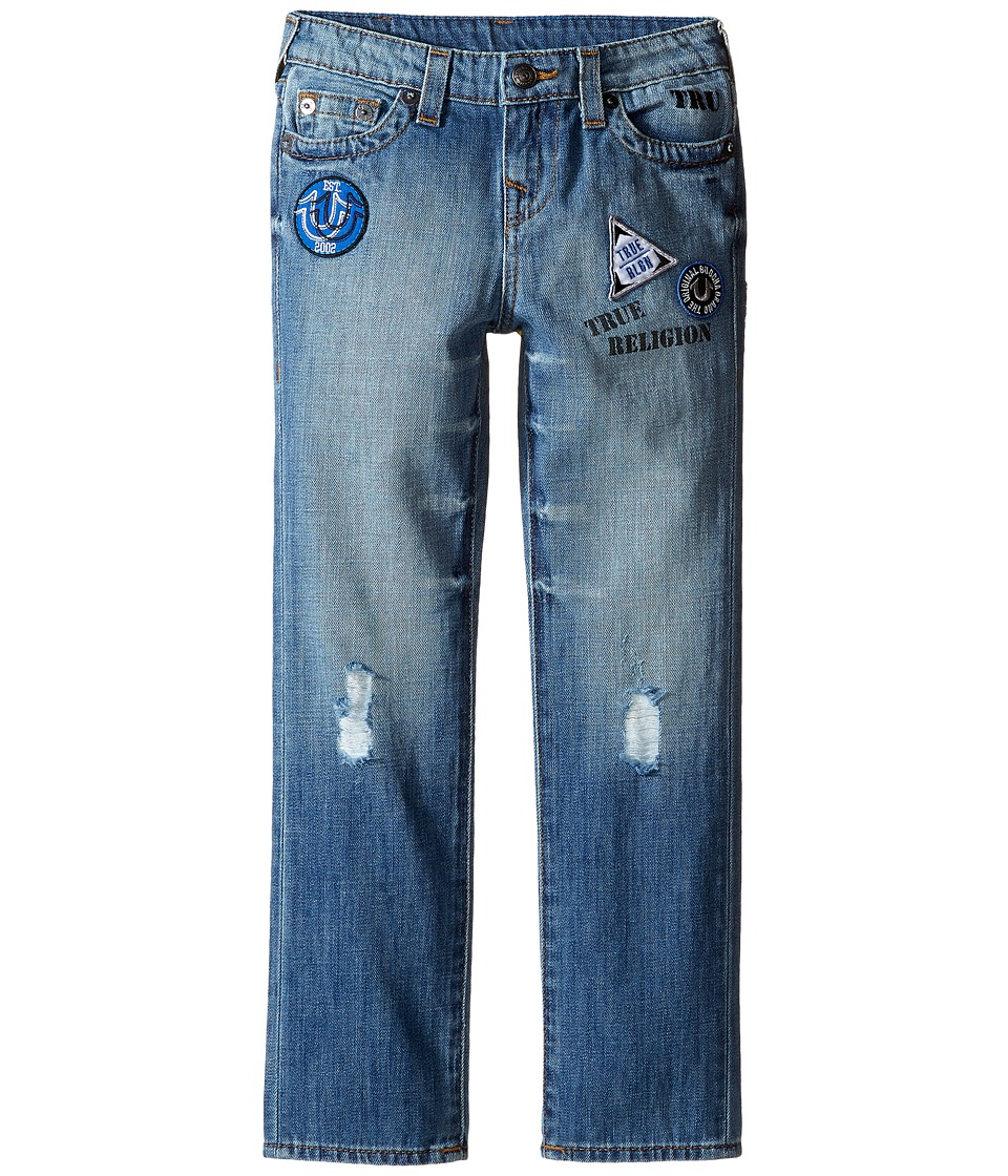 True Religion Kids - Geno Patchwork Jeans in Soft Blue (Toddler/Little Kids) (Soft Blue) Boy's Jeans