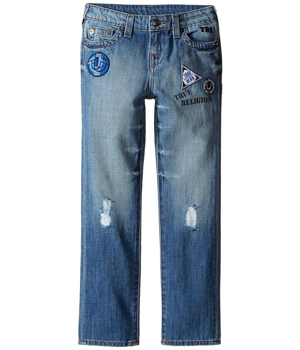 True Religion Kids Geno Patchwork Jeans in Soft Blue (Toddler/Little Kids) (Soft Blue) Boy