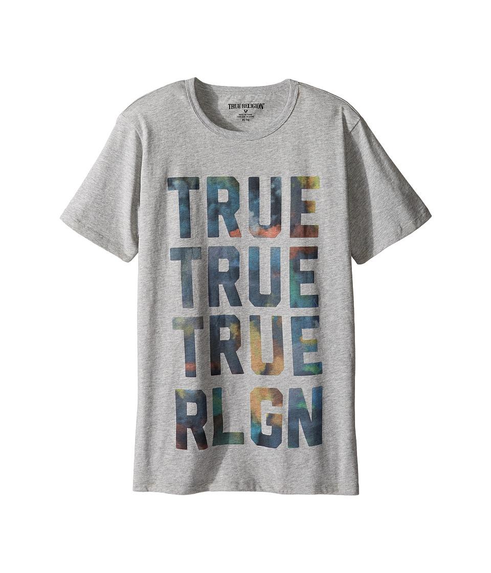 True Religion Kids - Cloudy TR Tee (Big Kids) (Heather Grey) Boy's T Shirt