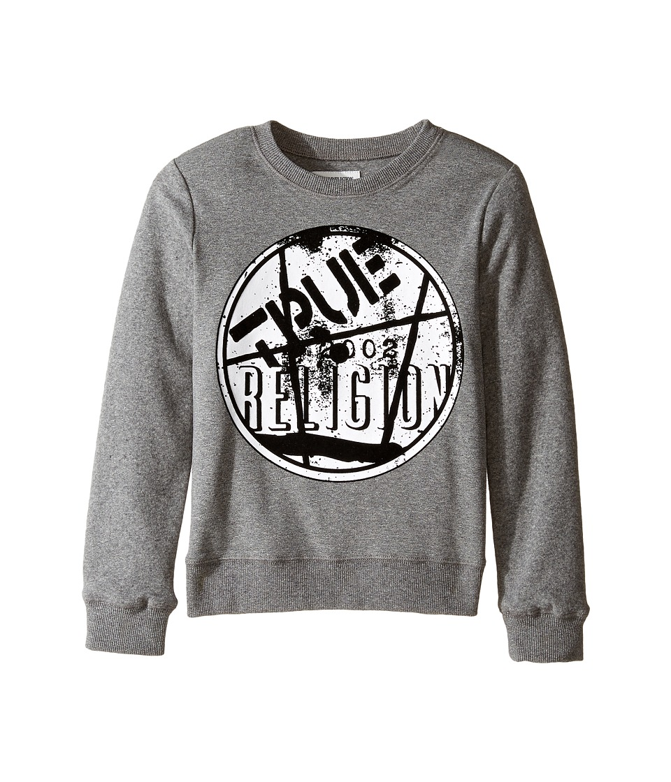 True Religion Kids - Vinyl Pullover (Big Kids) (Heather Grey) Boy's Clothing