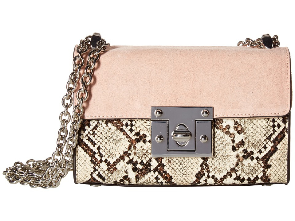 Sam Edelman - Sissy Mini Shoulder (Pink/Python/Winter White) Shoulder Handbags