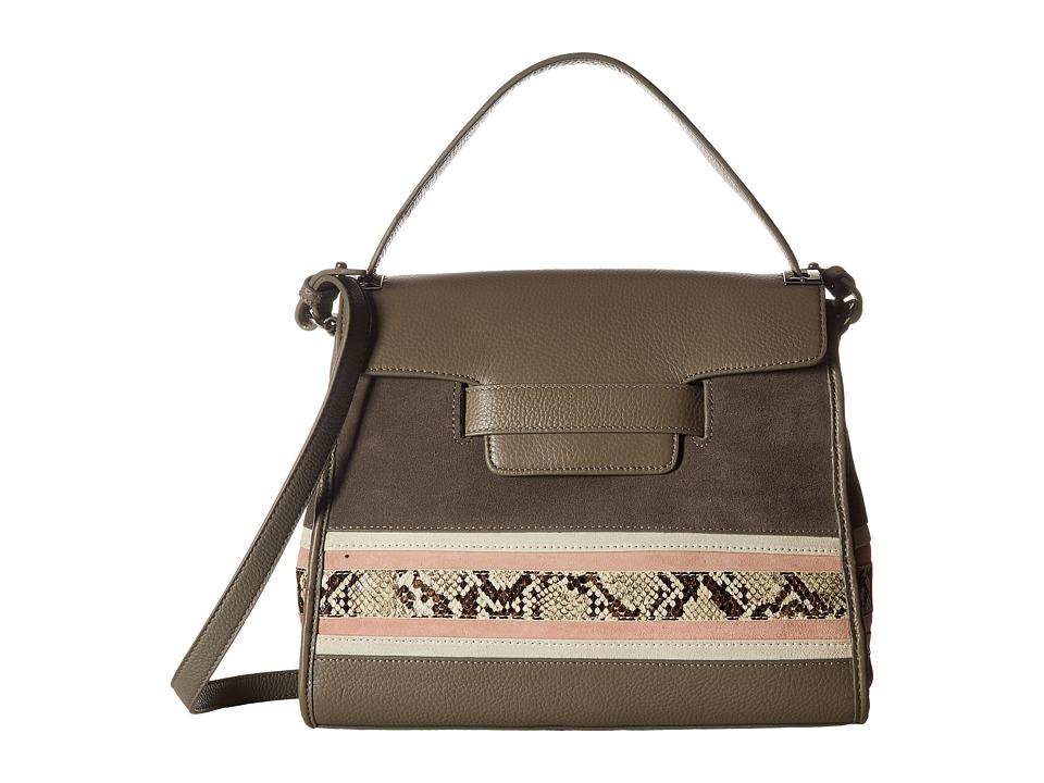 Sam Edelman - Terri Top-Handle (Grey Frost Suede/Leather) Top-handle Handbags