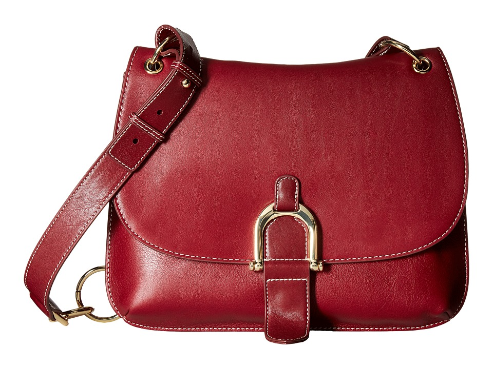 Sam Edelman - Delilah Saddle (Tango Red Leather) Handbags