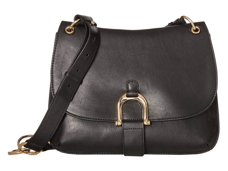 Sam Edelman - Delilah Saddle (Black Leather) Handbags