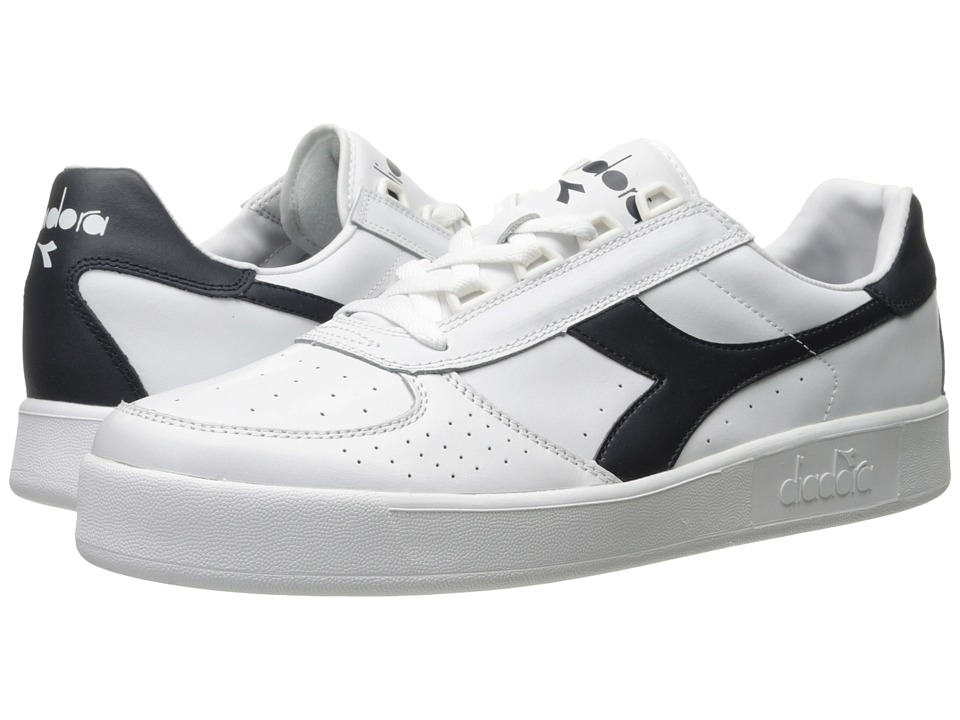 Diadora - B. Elite (White/Blue Denim/Blue Denim) Men's Shoes
