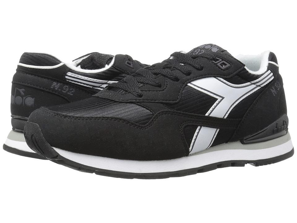 Diadora - N-92 (Black/White) Athletic Shoes