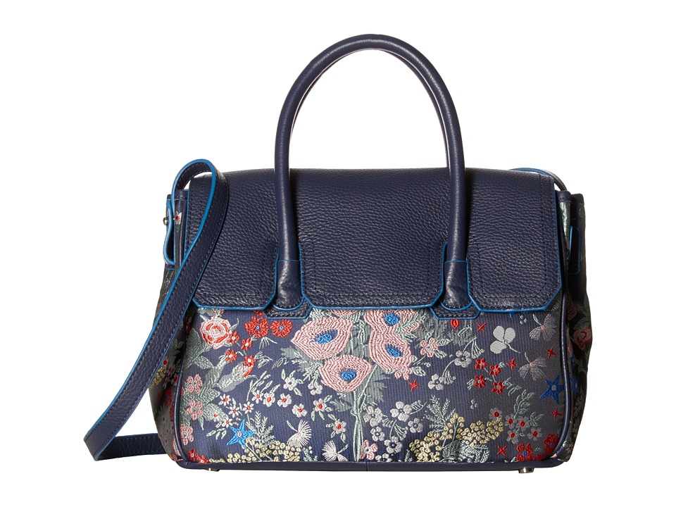 Sam Edelman - Sylvia Floral Kelly Bag (Blue Floral) Handbags