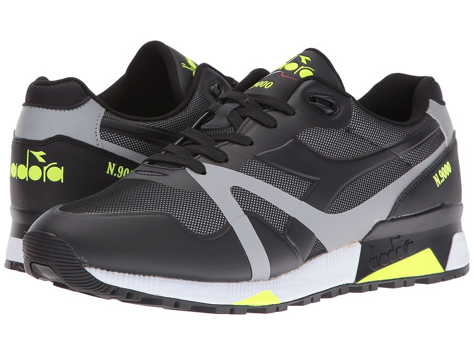 Diadora - N9000 Bright Protection (Black/Yellow Flou) Men's Shoes