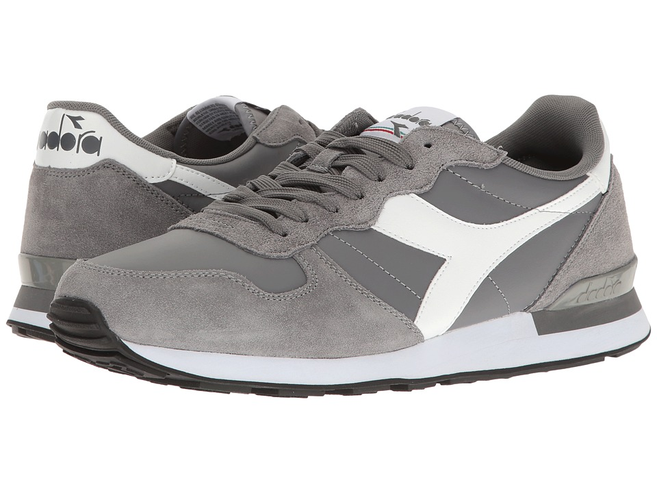 Diadora - Camaro Leather (Steel Grey/White) Men's Shoes