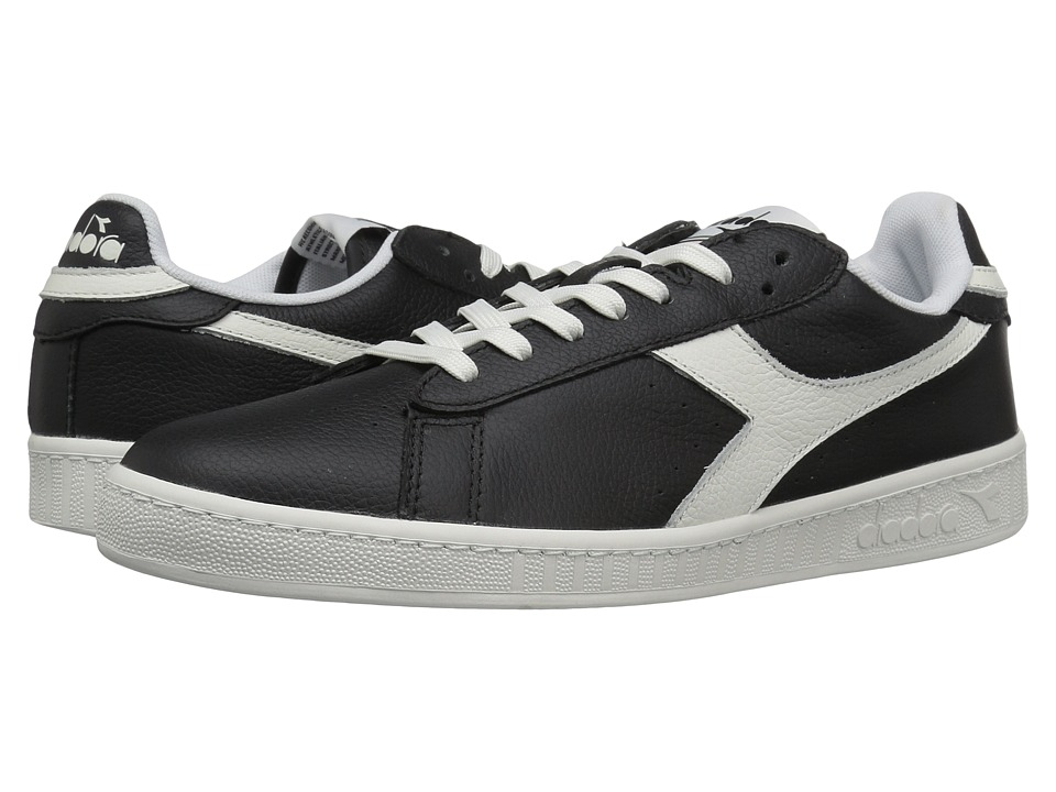 Diadora - Game L Low Waxed (Black/White) Athletic Shoes