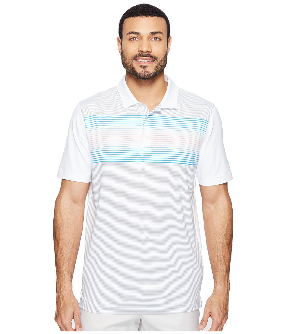 PUMA Golf - Highlight Stripe Polo (Bright White/Blue Danube) Men's Short Sleeve Knit