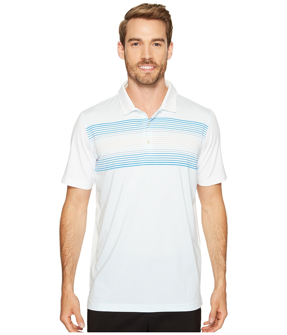 PUMA Golf - Highlight Stripe Polo (Bright White/French Blue) Men's Short Sleeve Knit