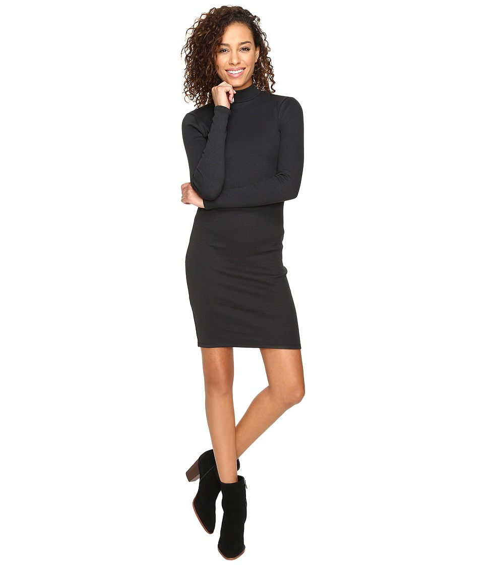 Alternative - Eco Mock Rib Uptown Dress (Eco Mock True Black) Women's Dress
