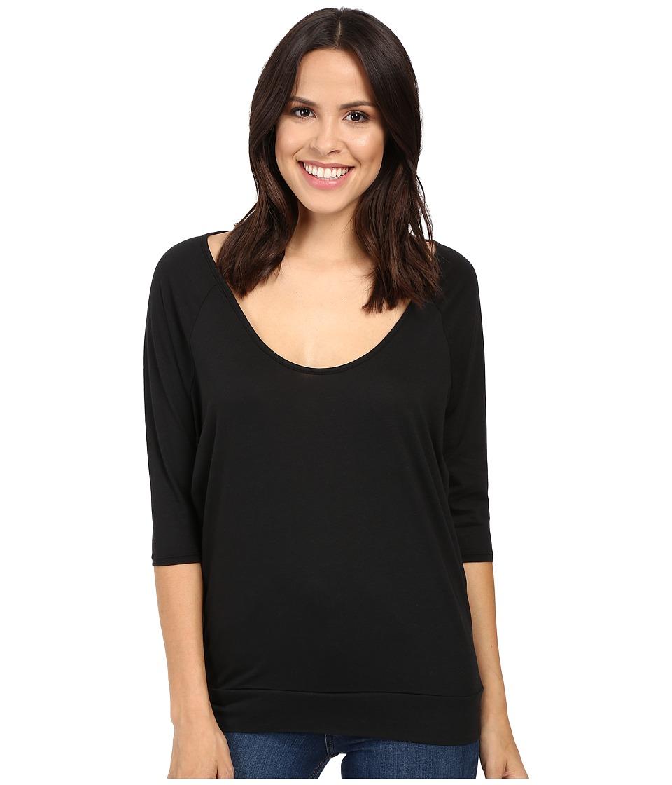 Alternative - Boxy Raglan Tee (Black) Women's T Shirt