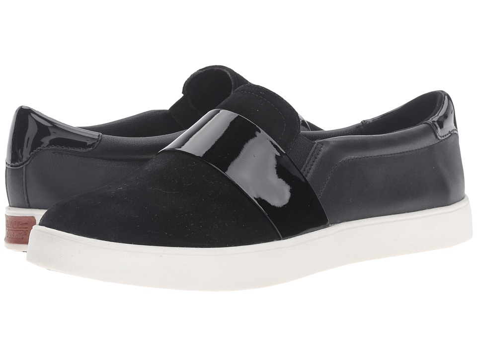 Dr. Scholl's - Scout Strap - Original Collection (Black Suede/Leather) Women's Shoes